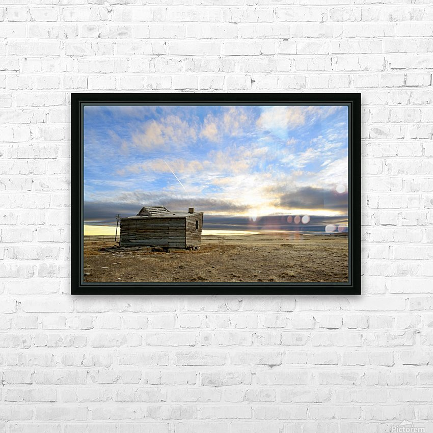 Ghost Town House HD Sublimation Metal print with Decorating Float Frame (BOX)