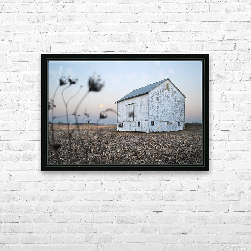 The Old Barn HD Sublimation Metal print with Decorating Float Frame (BOX)
