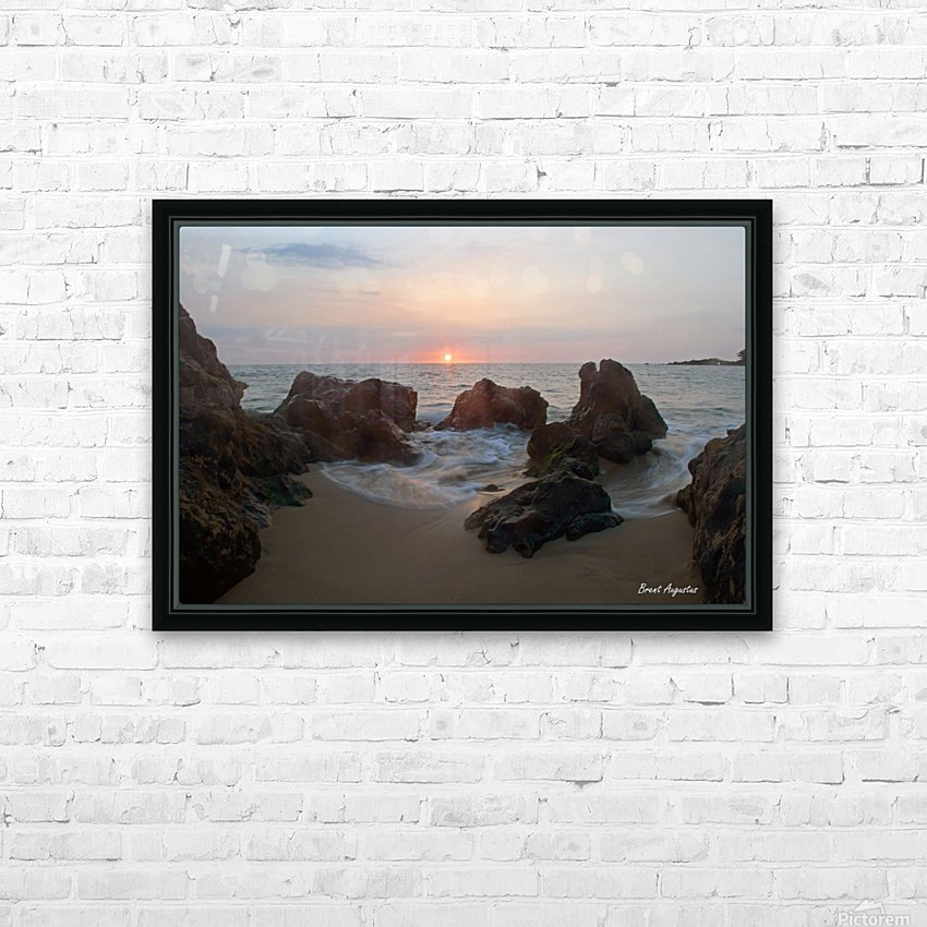 Tide Rolling HD Sublimation Metal print with Decorating Float Frame (BOX)