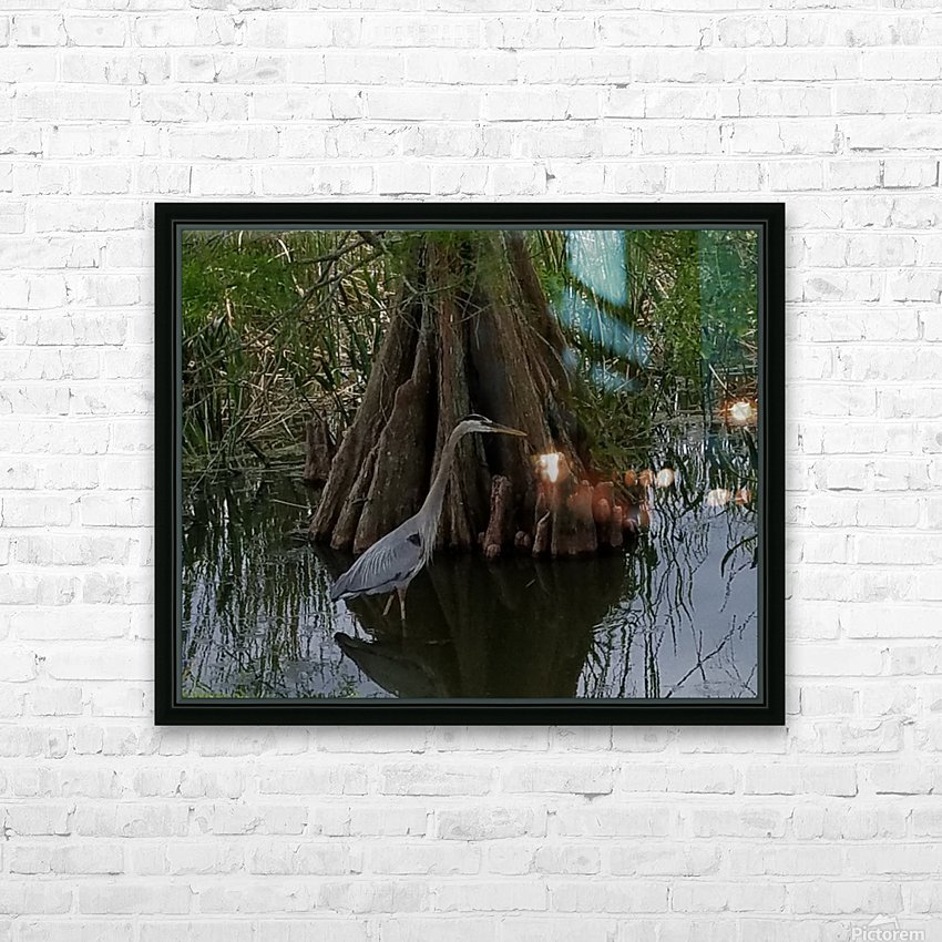 Heron HD Sublimation Metal print with Decorating Float Frame (BOX)
