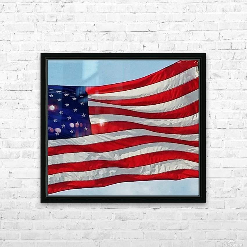 America the Beautiful HD Sublimation Metal print with Decorating Float Frame (BOX)