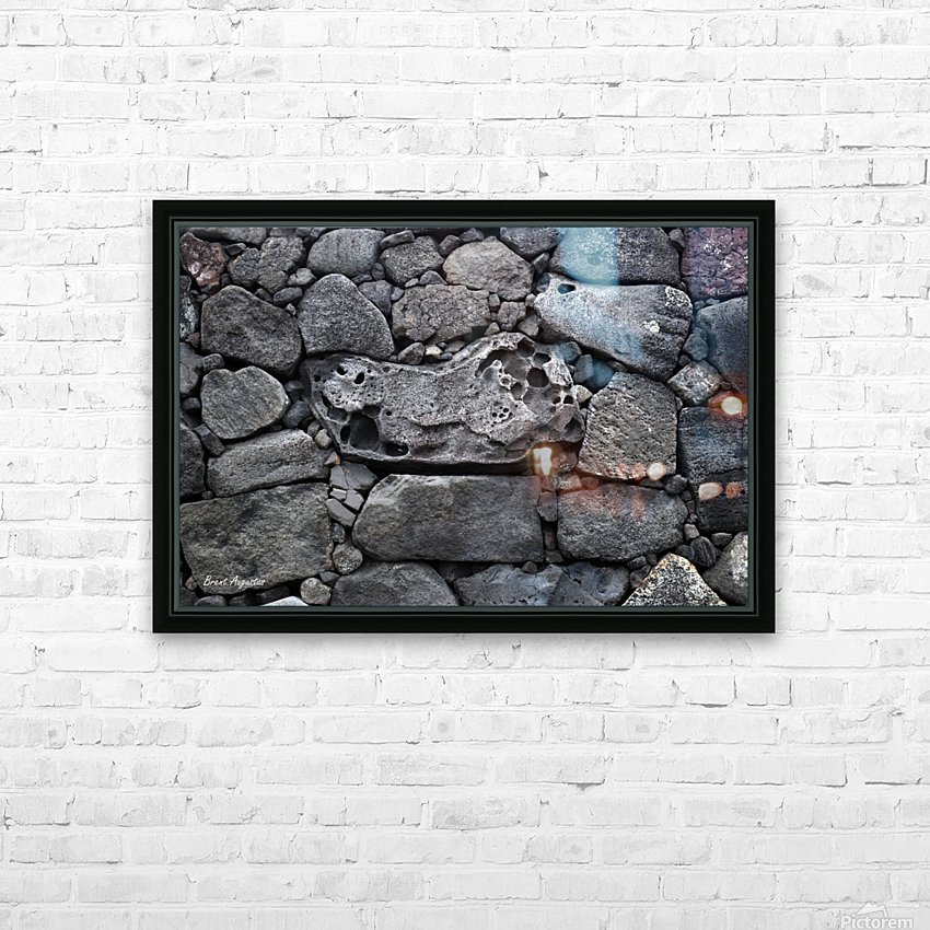 Lava brick HD Sublimation Metal print with Decorating Float Frame (BOX)