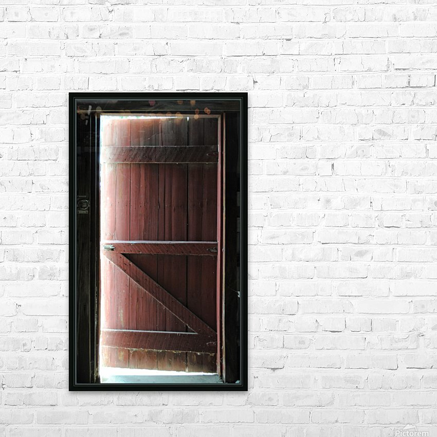 Barn Doors Open HD Sublimation Metal print with Decorating Float Frame (BOX)