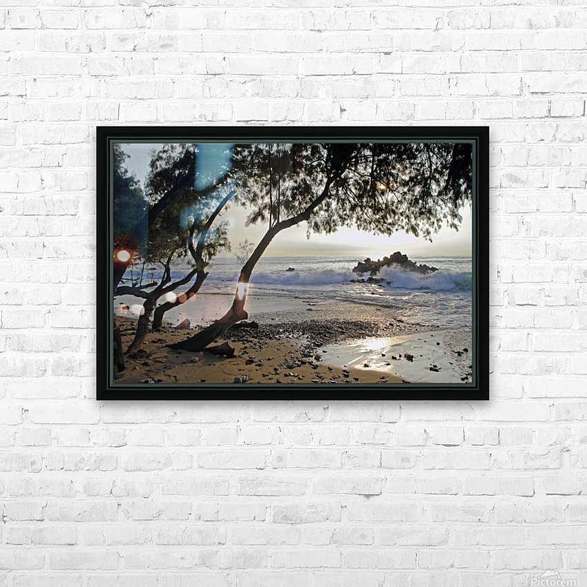 Wild Hawaii Beach HD Sublimation Metal print with Decorating Float Frame (BOX)