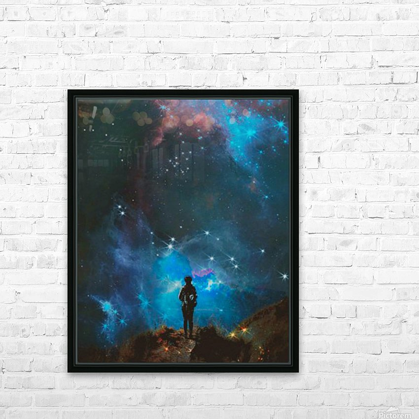 Alternate Universe HD Sublimation Metal print with Decorating Float Frame (BOX)