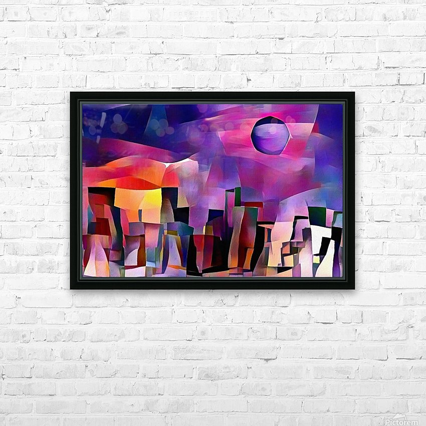 Dream Town HD Sublimation Metal print with Decorating Float Frame (BOX)