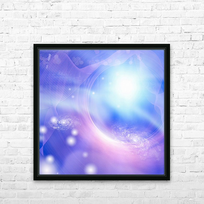 Galaxies HD Sublimation Metal print with Decorating Float Frame (BOX)