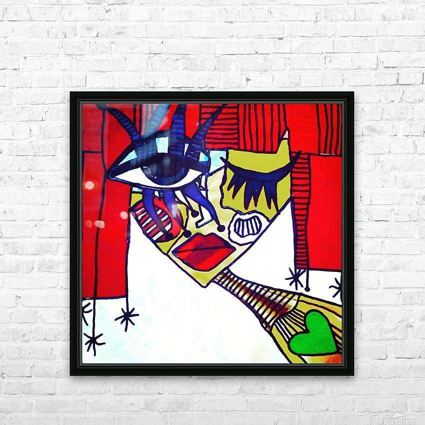 Red Warhol HD Sublimation Metal print with Decorating Float Frame (BOX)
