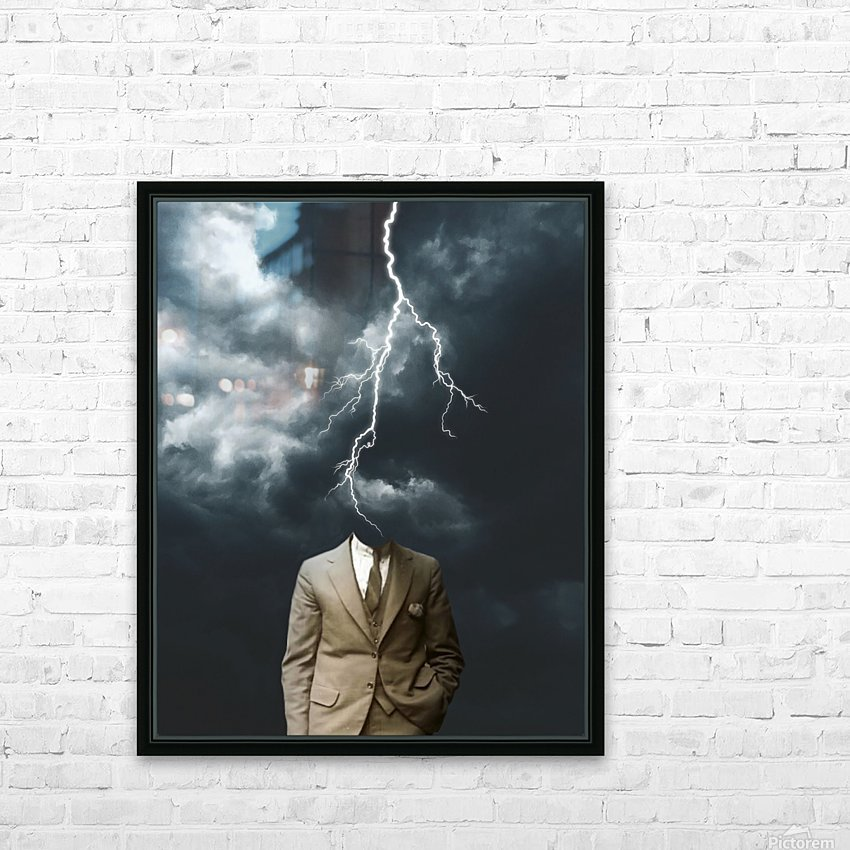 Lightning Strikes HD Sublimation Metal print with Decorating Float Frame (BOX)