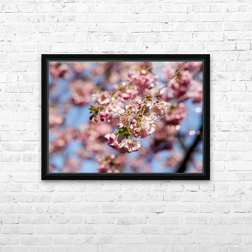 Cherry blossom Red HD Sublimation Metal print with Decorating Float Frame (BOX)
