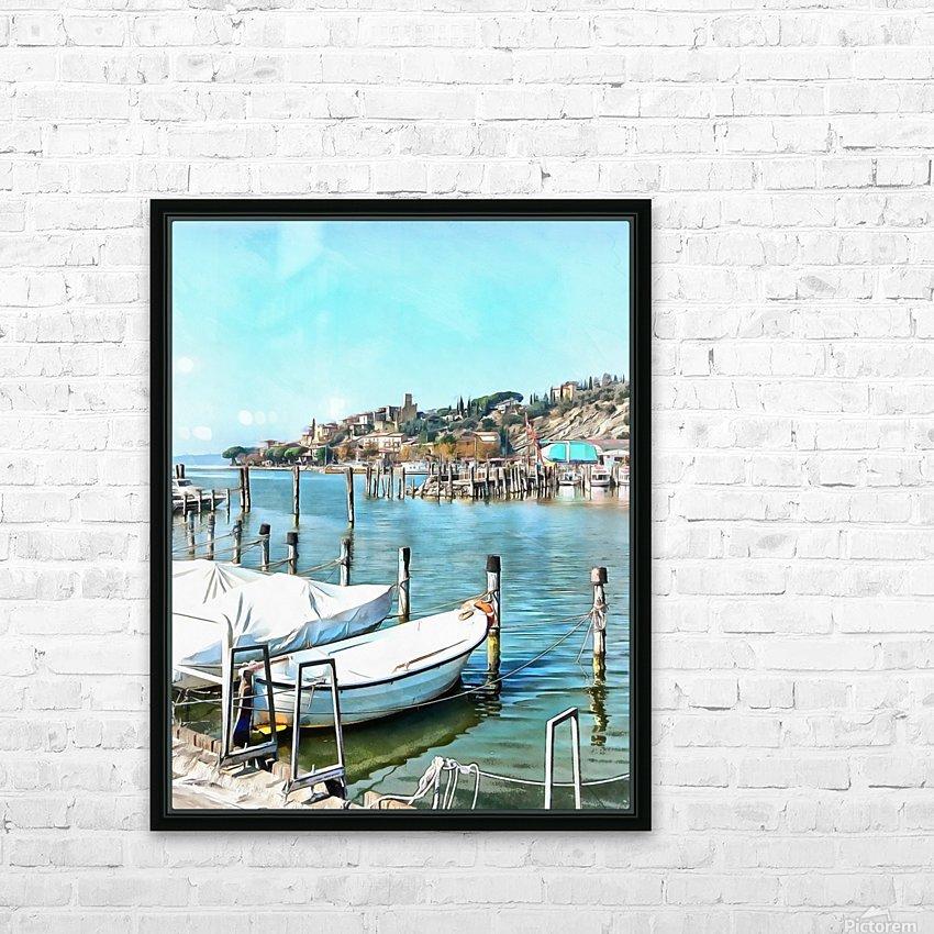 Moored Boats at Passignano HD Sublimation Metal print with Decorating Float Frame (BOX)