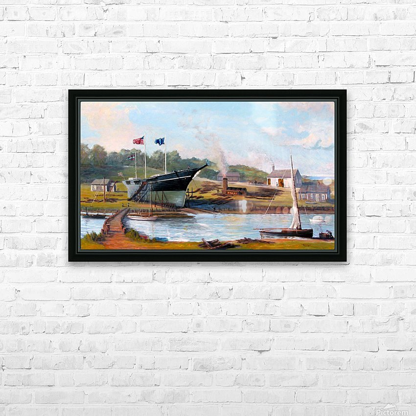 Building Belle of the West HD Sublimation Metal print with Decorating Float Frame (BOX)