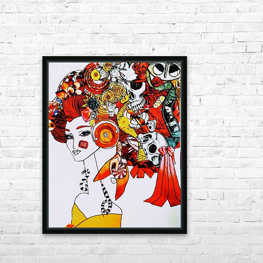 DEADBUG Geisha HD Sublimation Metal print with Decorating Float Frame (BOX)