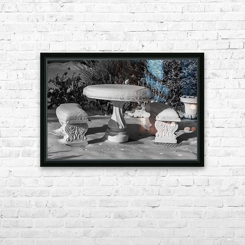 Easy To Estimate Snow Depth BW HD Sublimation Metal print with Decorating Float Frame (BOX)