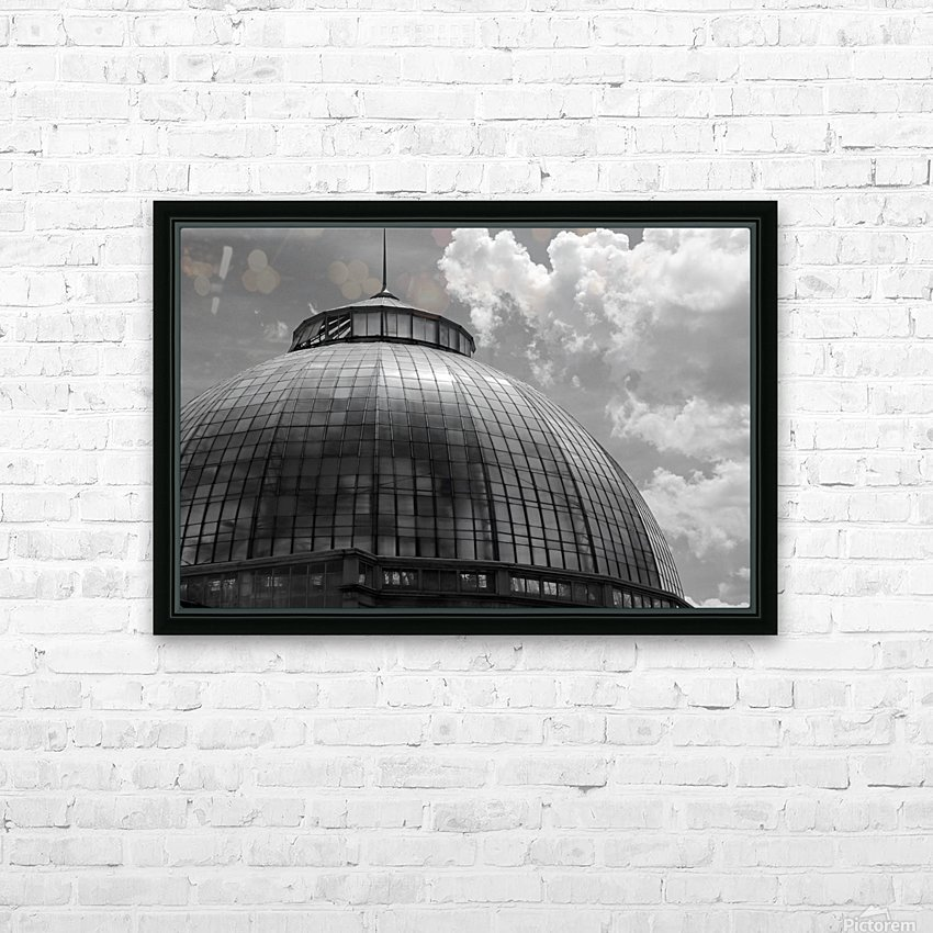 Belle Isle Conservatory Dome BW HD Sublimation Metal print with Decorating Float Frame (BOX)