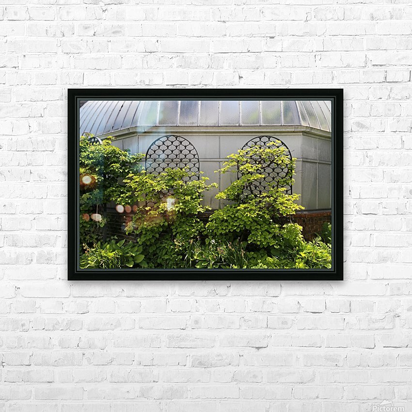 Belle Isle Consevatory Trellis HD Sublimation Metal print with Decorating Float Frame (BOX)