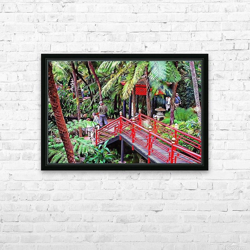 Oriental Gardens Madeira 1 HD Sublimation Metal print with Decorating Float Frame (BOX)