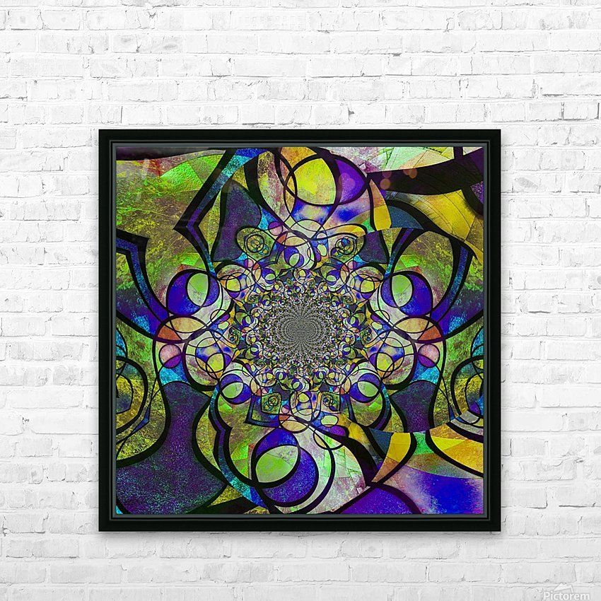 Abstract Fractal HD Sublimation Metal print with Decorating Float Frame (BOX)