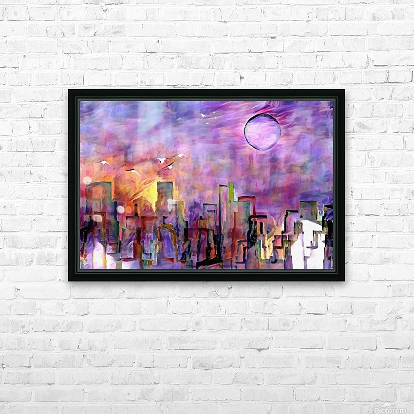 Night City Colors HD Sublimation Metal print with Decorating Float Frame (BOX)