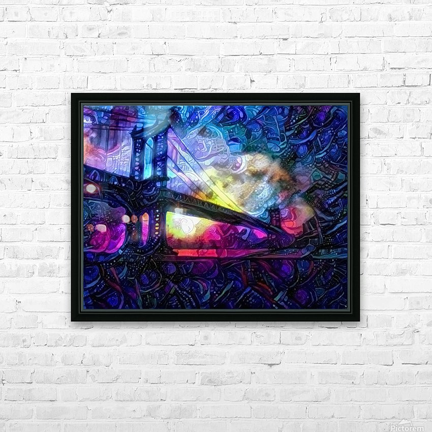 Manhattan Bridge HD Sublimation Metal print with Decorating Float Frame (BOX)