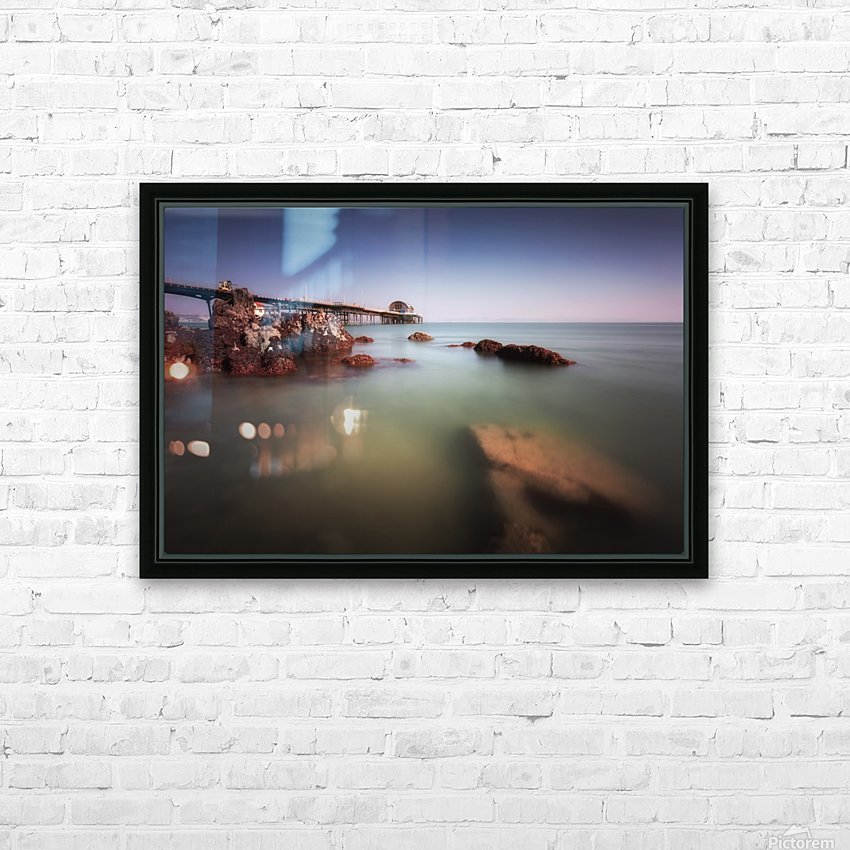 Mumbles pier Swansea HD Sublimation Metal print with Decorating Float Frame (BOX)