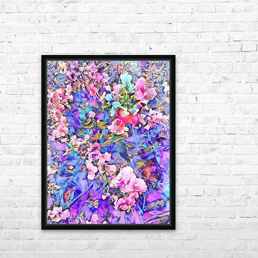 Pink and Blue Fusion HD Sublimation Metal print with Decorating Float Frame (BOX)