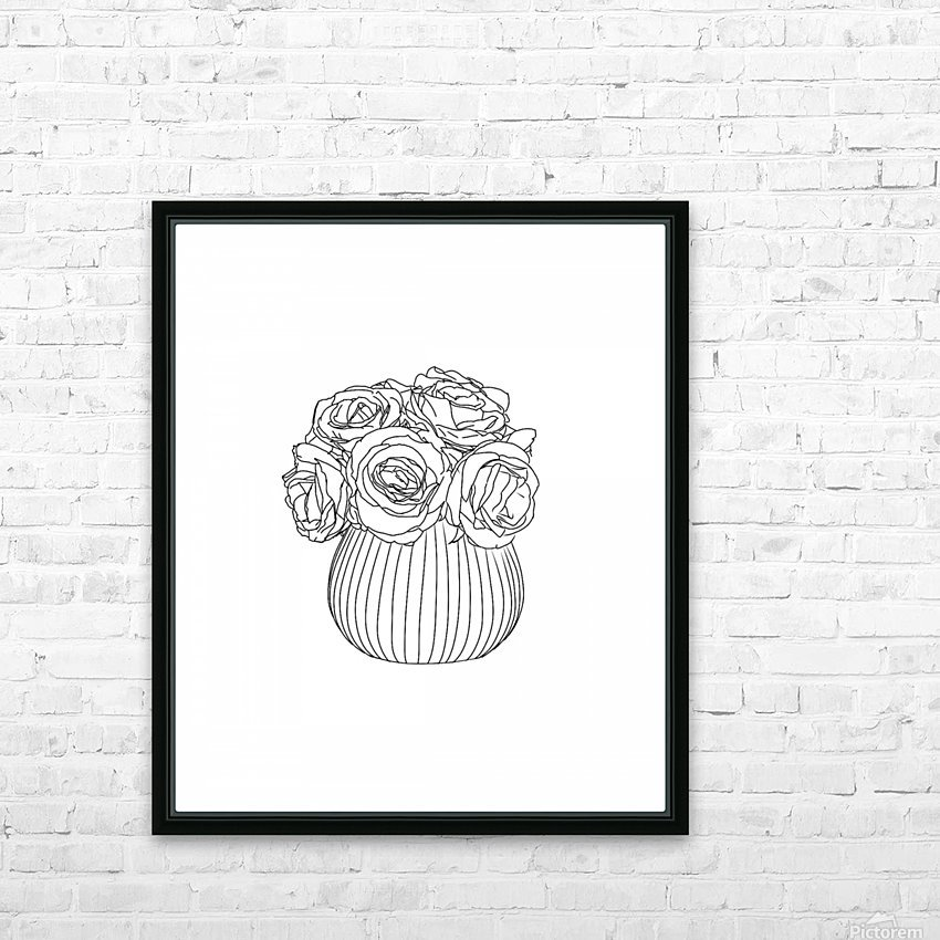Line Drawing HD Sublimation Metal print with Decorating Float Frame (BOX)