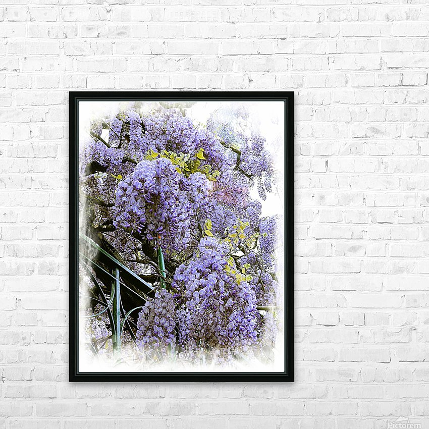 Wisteria Clouds HD Sublimation Metal print with Decorating Float Frame (BOX)