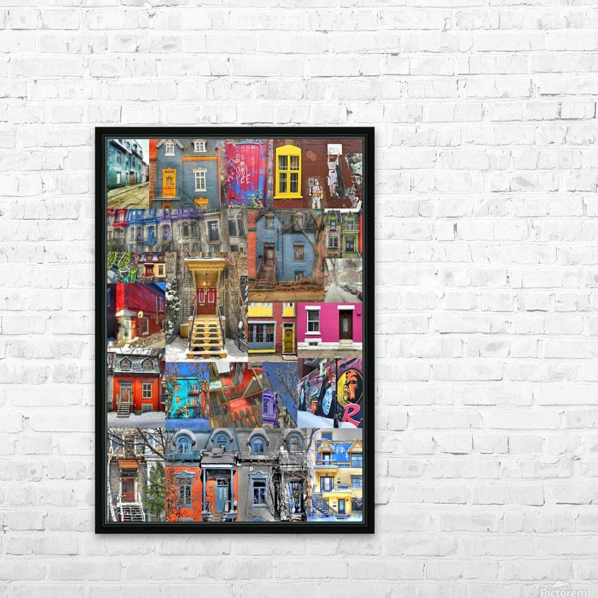 Plateau Mont-Royal Montreal HD Sublimation Metal print with Decorating Float Frame (BOX)