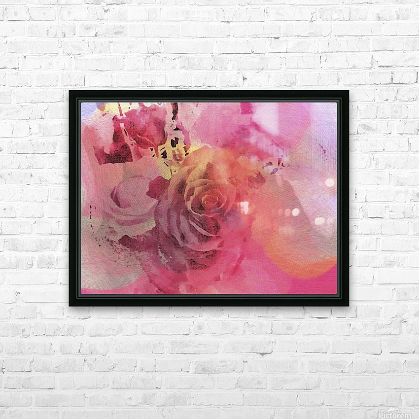 June Rose HD Sublimation Metal print with Decorating Float Frame (BOX)