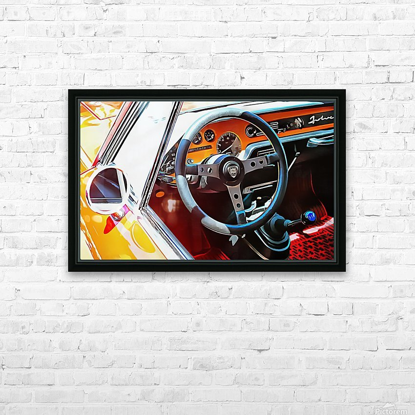 Lancia Fulvia Through The Window HD Sublimation Metal print with Decorating Float Frame (BOX)