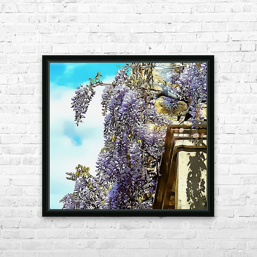Wisteria Cascade HD Sublimation Metal print with Decorating Float Frame (BOX)