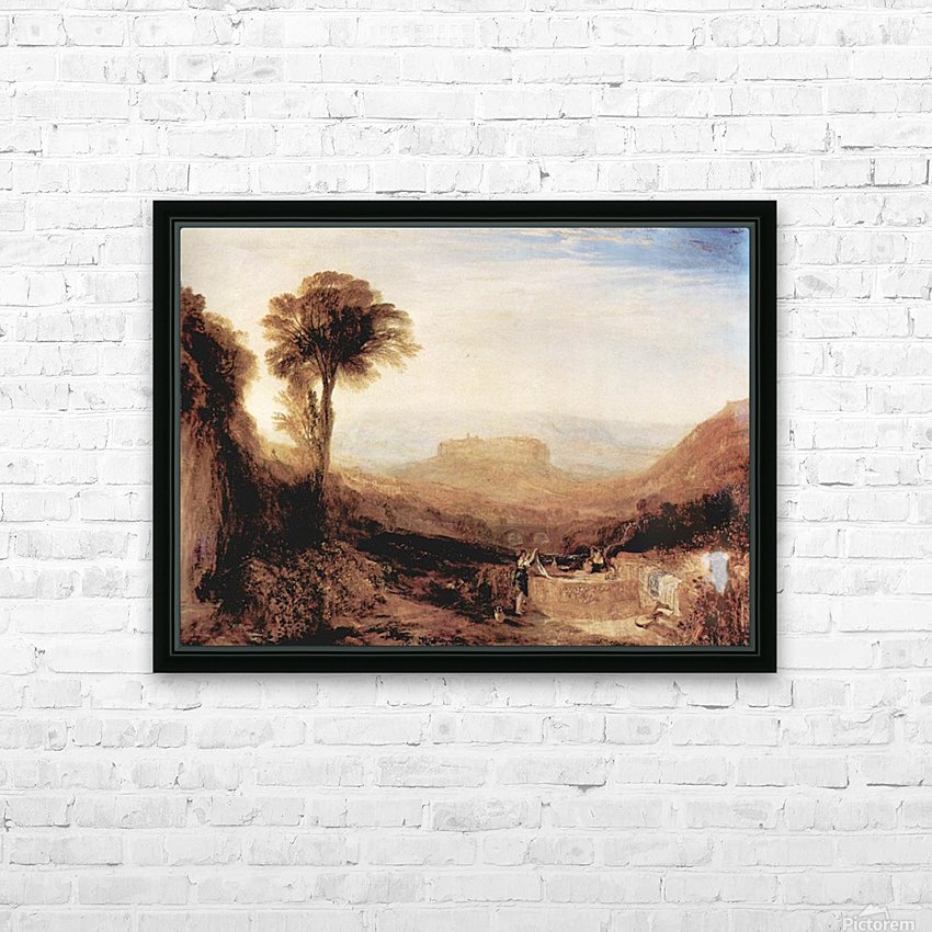 View of Orvieto, painted in Rome by Joseph Mallord Turner HD Sublimation Metal print with Decorating Float Frame (BOX)