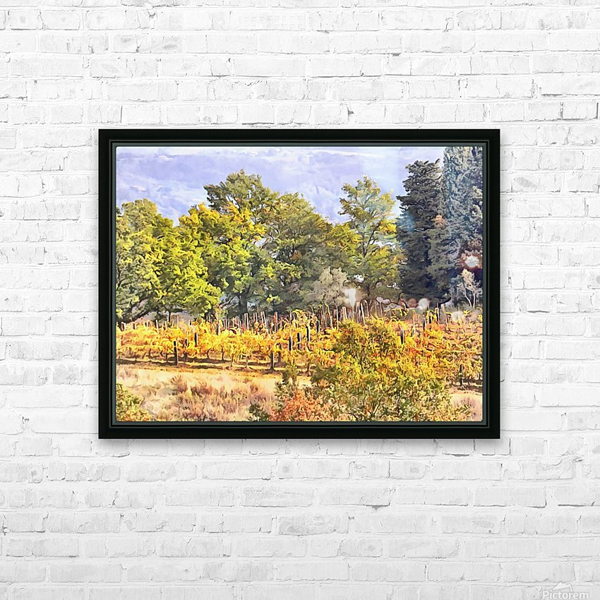 Tuscan Countryside in Autumn HD Sublimation Metal print with Decorating Float Frame (BOX)