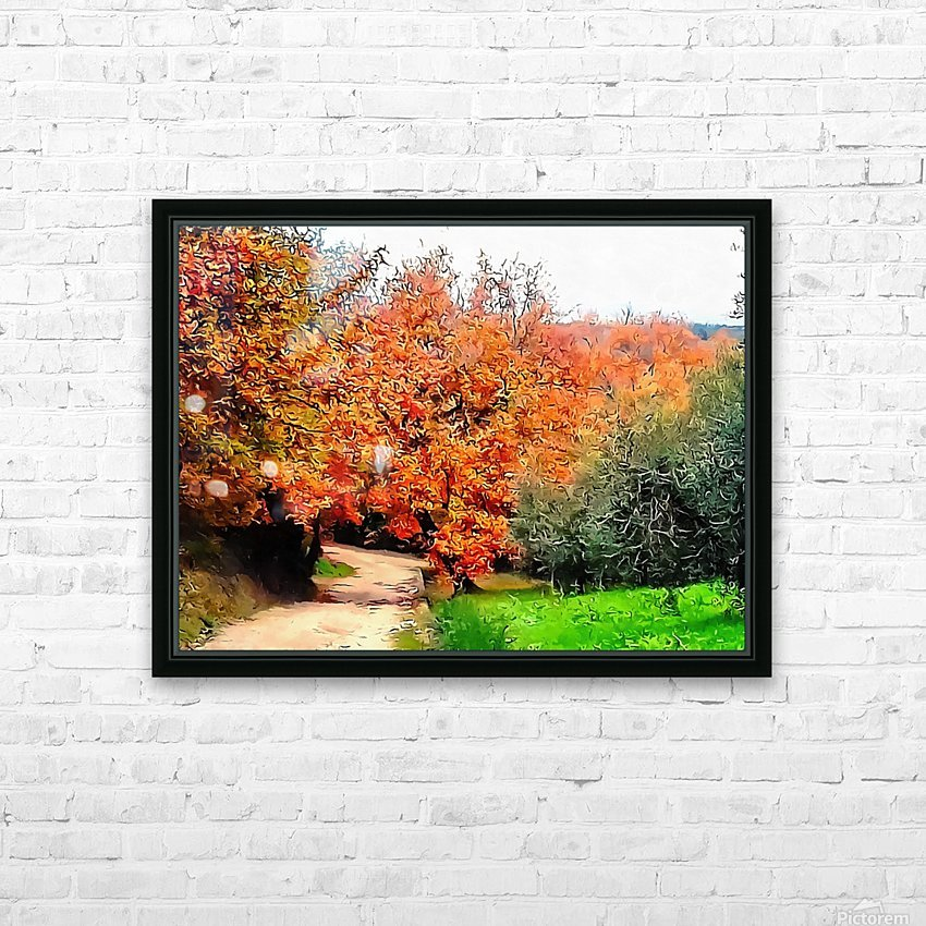 Autumn Golden Colours Umbria HD Sublimation Metal print with Decorating Float Frame (BOX)