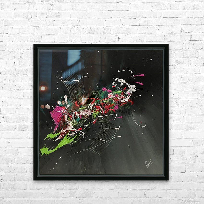 BIRD OF PARADISE HD Sublimation Metal print with Decorating Float Frame (BOX)