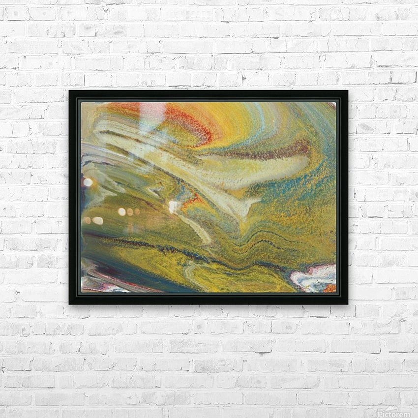 Rainbow Tornado HD Sublimation Metal print with Decorating Float Frame (BOX)