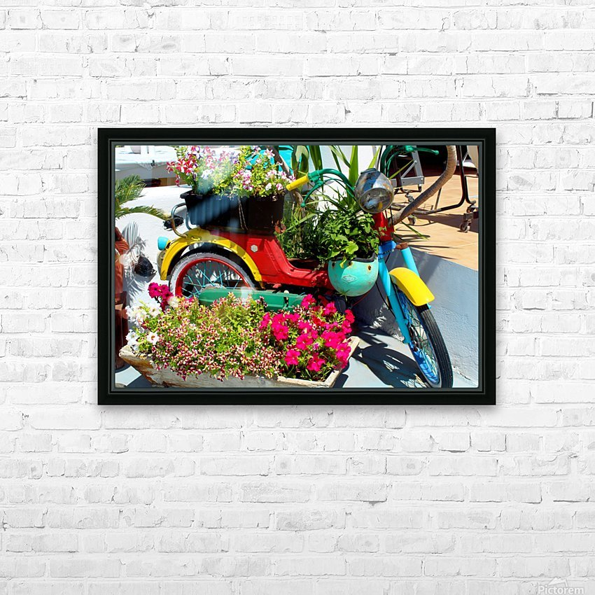 Bike HD Sublimation Metal print with Decorating Float Frame (BOX)