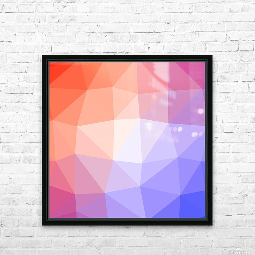 Abstract art patterns low poly polygon 3D backgrounds, textures, and vectors (10) HD Sublimation Metal print with Decorating Float Frame (BOX)
