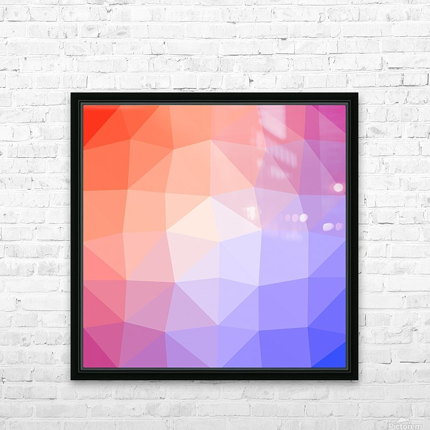 Abstract art patterns low poly polygon 3D backgrounds, textures, and vectors (6) HD Sublimation Metal print with Decorating Float Frame (BOX)