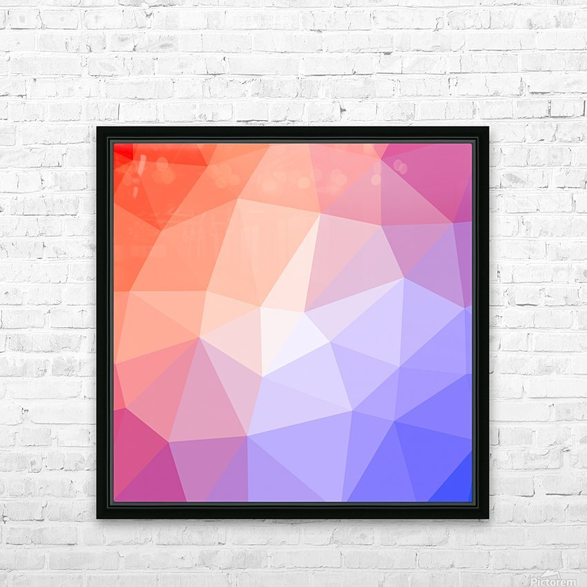 Abstract art patterns low poly polygon 3D backgrounds, textures, and vectors (9) HD Sublimation Metal print with Decorating Float Frame (BOX)