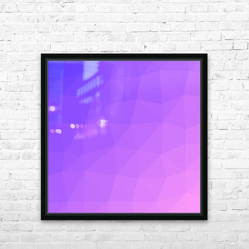 Abstract art patterns low poly polygon 3D backgrounds, textures, and vectors (16) HD Sublimation Metal print with Decorating Float Frame (BOX)