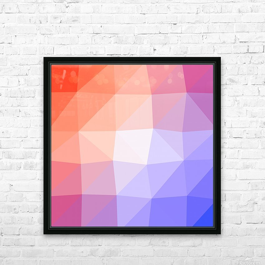 Abstract art patterns low poly polygon 3D backgrounds, textures, and vectors (3) HD Sublimation Metal print with Decorating Float Frame (BOX)