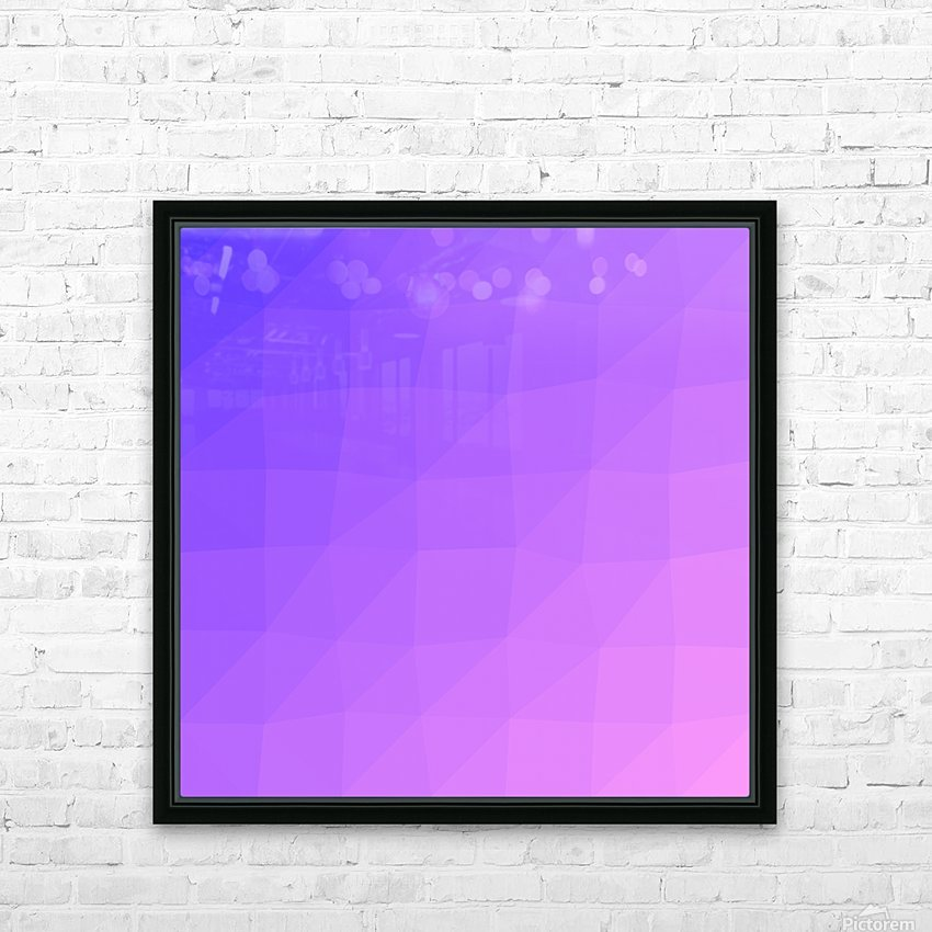 Abstract art patterns low poly polygon 3D backgrounds, textures, and vectors (14) HD Sublimation Metal print with Decorating Float Frame (BOX)