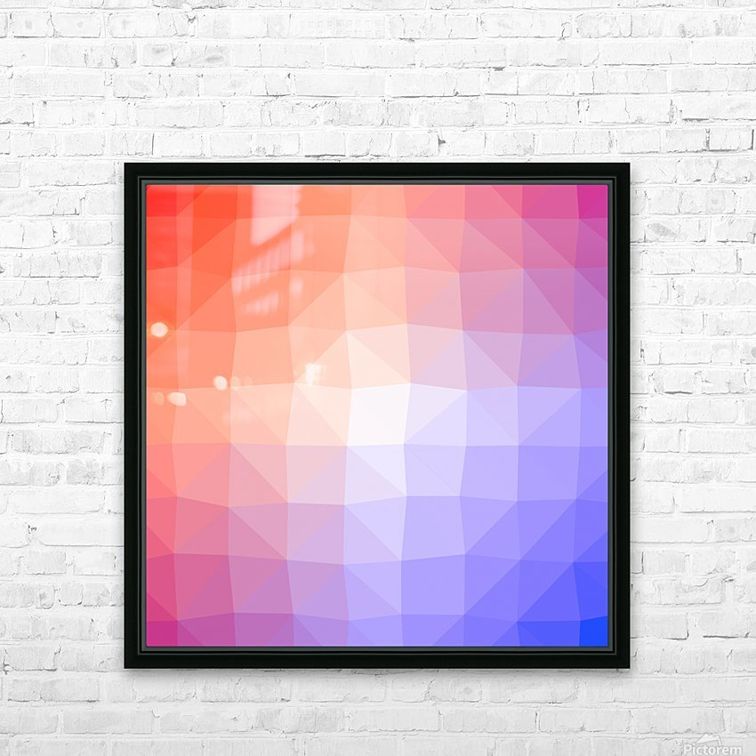 Abstract art patterns low poly polygon 3D backgrounds, textures, and vectors HD Sublimation Metal print with Decorating Float Frame (BOX)