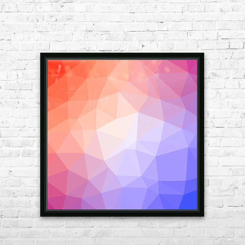 Abstract art patterns low poly polygon 3D backgrounds, textures, and vectors (8) HD Sublimation Metal print with Decorating Float Frame (BOX)