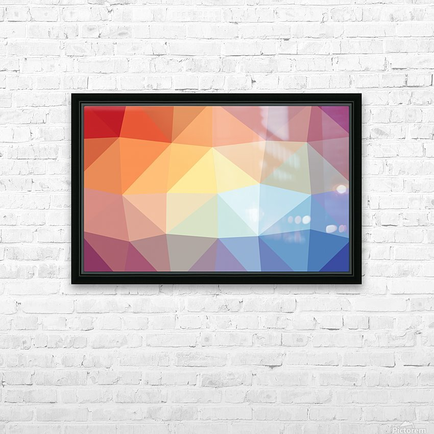 patterns polygon 3D (20) HD Sublimation Metal print with Decorating Float Frame (BOX)