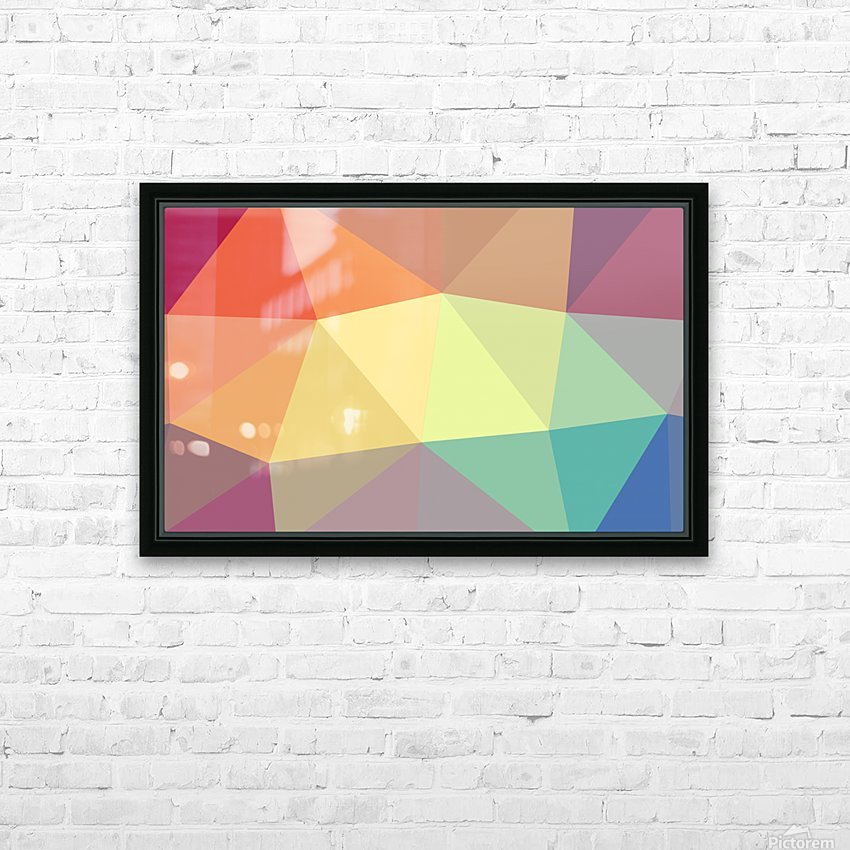patterns polygon 3D (49) HD Sublimation Metal print with Decorating Float Frame (BOX)