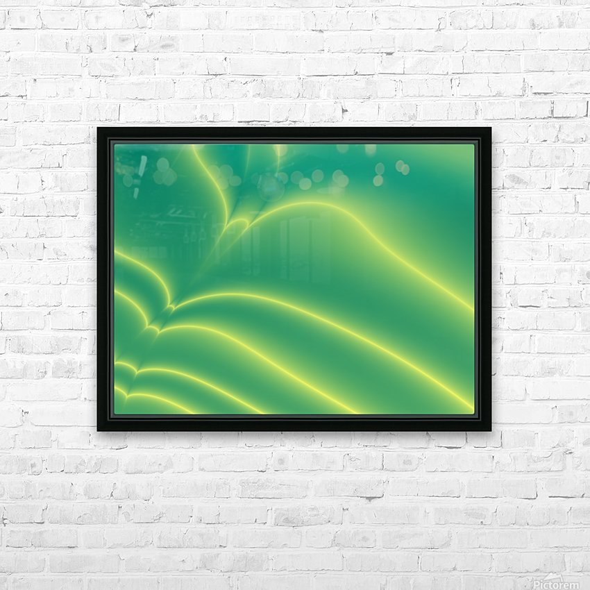 Abstract  (3) HD Sublimation Metal print with Decorating Float Frame (BOX)