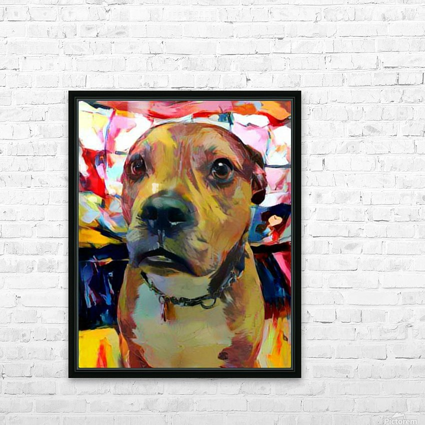Dog Painting (5) HD Sublimation Metal print with Decorating Float Frame (BOX)